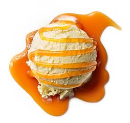 helado con sirope